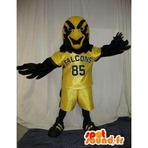 Falcon mascotte calcio, calcio travestimento - MASFR002039 - Mascotte degli uccelli