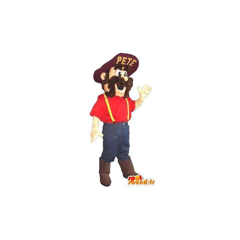 Mascot farmer American farmer disguise - MASFR002041 - Human mascots