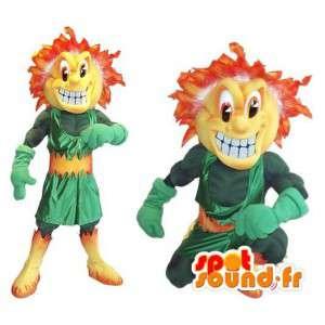 燃えるような髪のラスカルを表すマスコットのデュオ-MASFR002042-男の子と女の子のマスコット