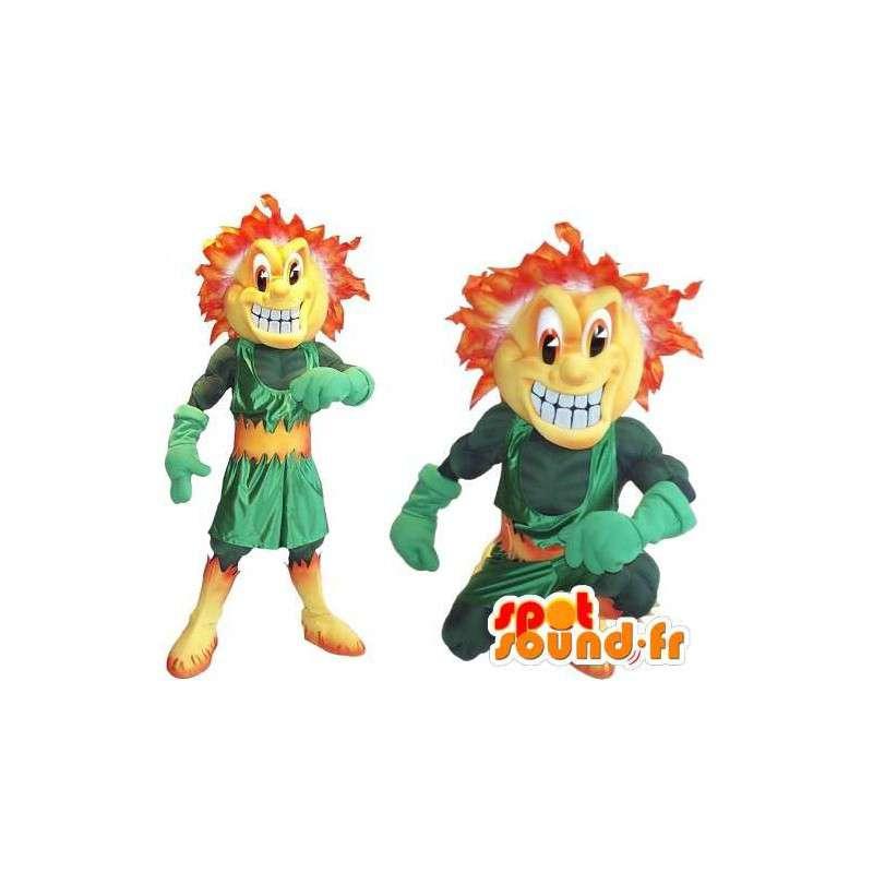 Duo Maskottchen Vertreter Schufte mit feurigen Haare - MASFR002042 - Maskottchen-jungen und Mädchen