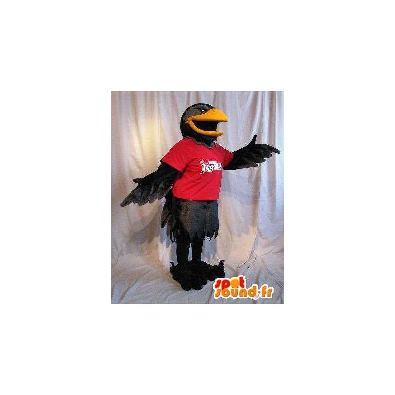 Mascot representing a raven black bird costume - MASFR002043 - Mascot of birds