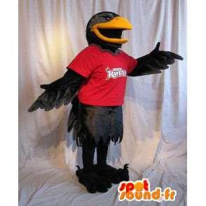 Mascot que representa un cuervo negro, traje de aves - MASFR002043 - Mascota de aves