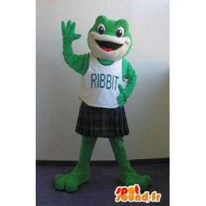 Frosch-Maskottchen die einen Kilt schottischen Kostüm - MASFR002044 - Maskottchen-Frosch