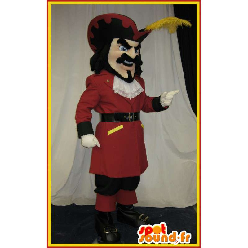 Historischen Kostüm-Maskottchen-Gentleman aus dem 17. Jahrhundert - MASFR002046 - Menschliche Maskottchen