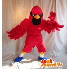 Hawk Mascot red ninja costume battle - MASFR002048 - Mascot of birds