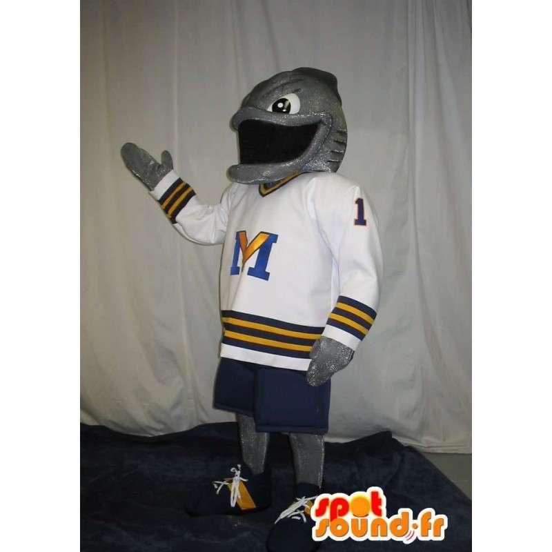 Mascot representing a fish-American footballer - MASFR002050 - Mascots fish