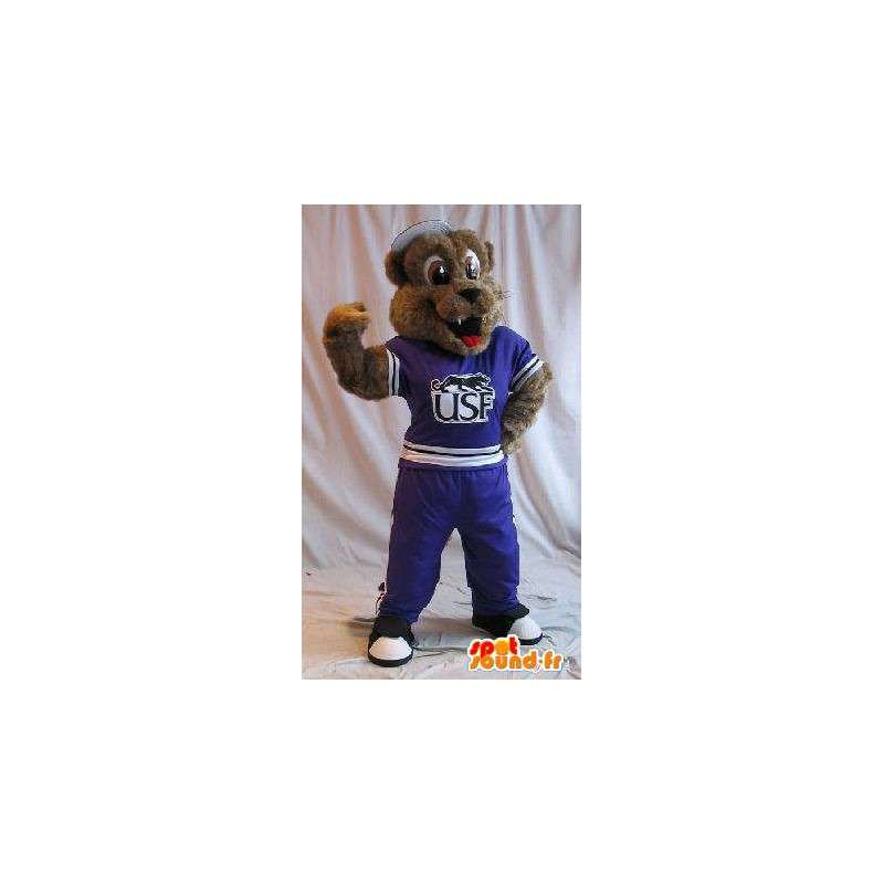 Koira maskotti urheiluvaatteet, fitness naamioida - MASFR002051 - koira Maskotteja