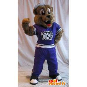 Hund maskot i sportsklær, trenings forkledning - MASFR002051 - Dog Maskoter