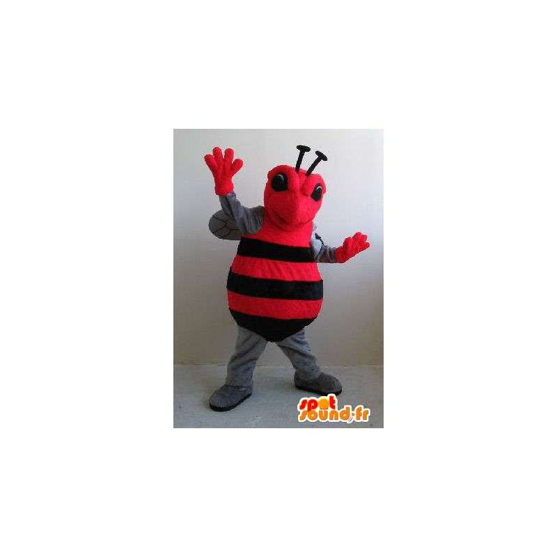 Insect kostuum rode en zwarte vliegen, dier vermomming - MASFR002054 - mascottes Insect