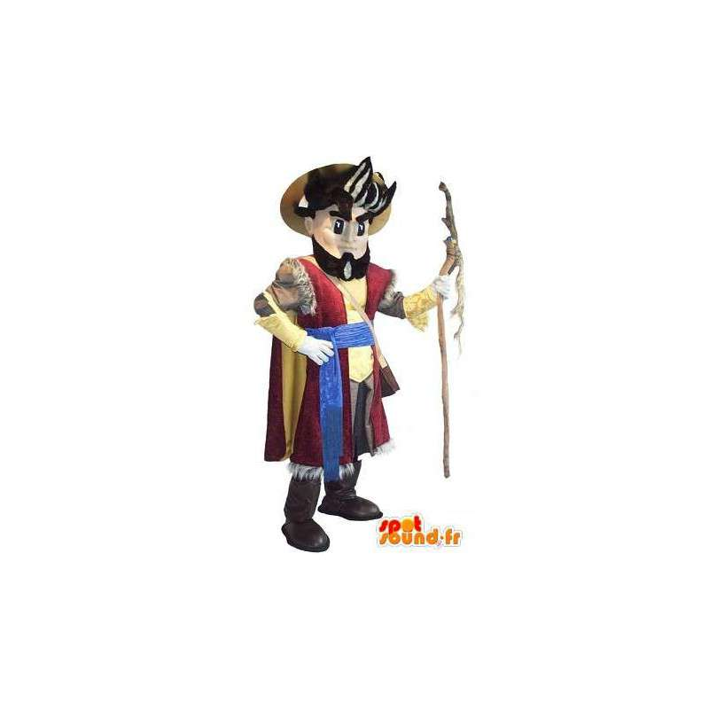 Mascot representing a pilgrim costume pilgrim - MASFR002055 - Human mascots