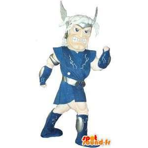 Mascot que representa a un guerrero galo, traje histórico