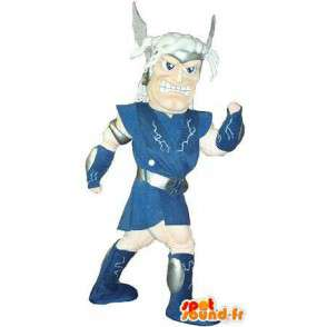 Mascot wat neerkomt op een Gallische krijger, historisch kostuum - MASFR002056 - mascottes Knights