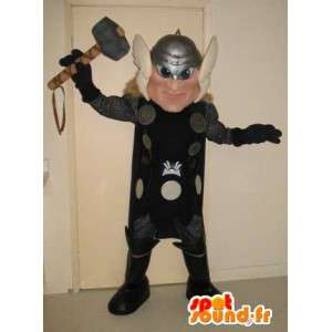 Mascot Thor god of thunder, god viking costume