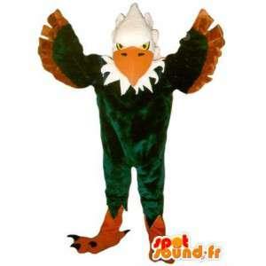 Maskottchen zeigt eine grüne Adler Adler Verkleidung