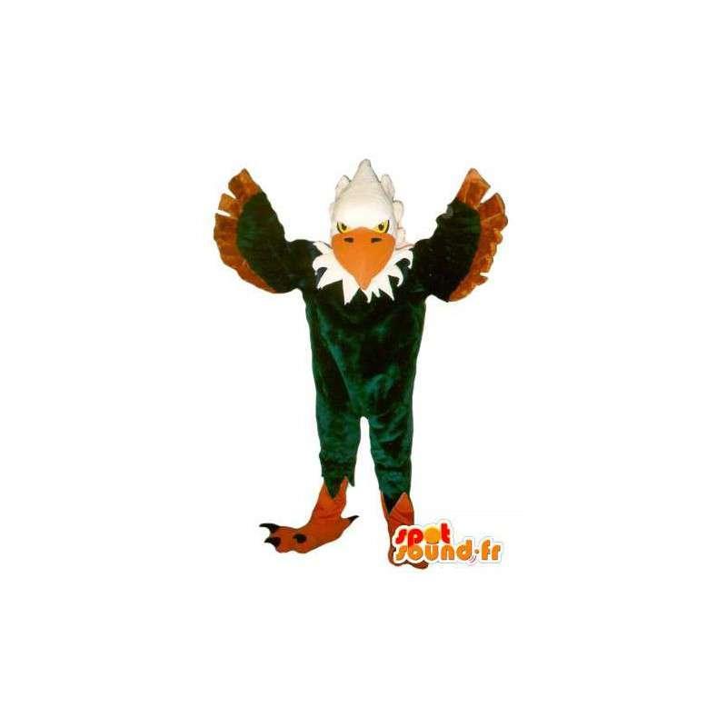 Maskotti edustaa vihreää kotka, kotka naamioida - MASFR002066 - maskotti lintuja