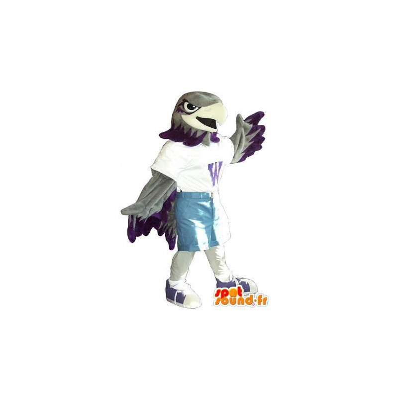 Mascot wat neerkomt op een sport adelaar, sport vermomming - MASFR002068 - Mascot vogels