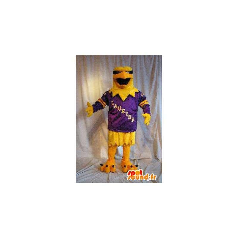 Mascot wat neerkomt op een gele adelaar, vogel kostuum - MASFR002071 - Mascot vogels