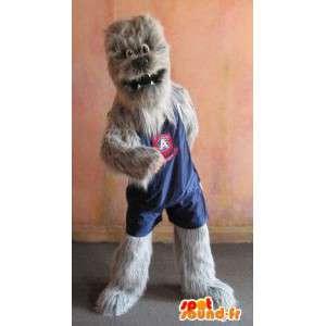 Disguise choubaka giocatore di basket, mascotte Yeti