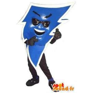 青い稲妻の形のマスコット、電気の変装-MASFR002074-未分類のマスコット