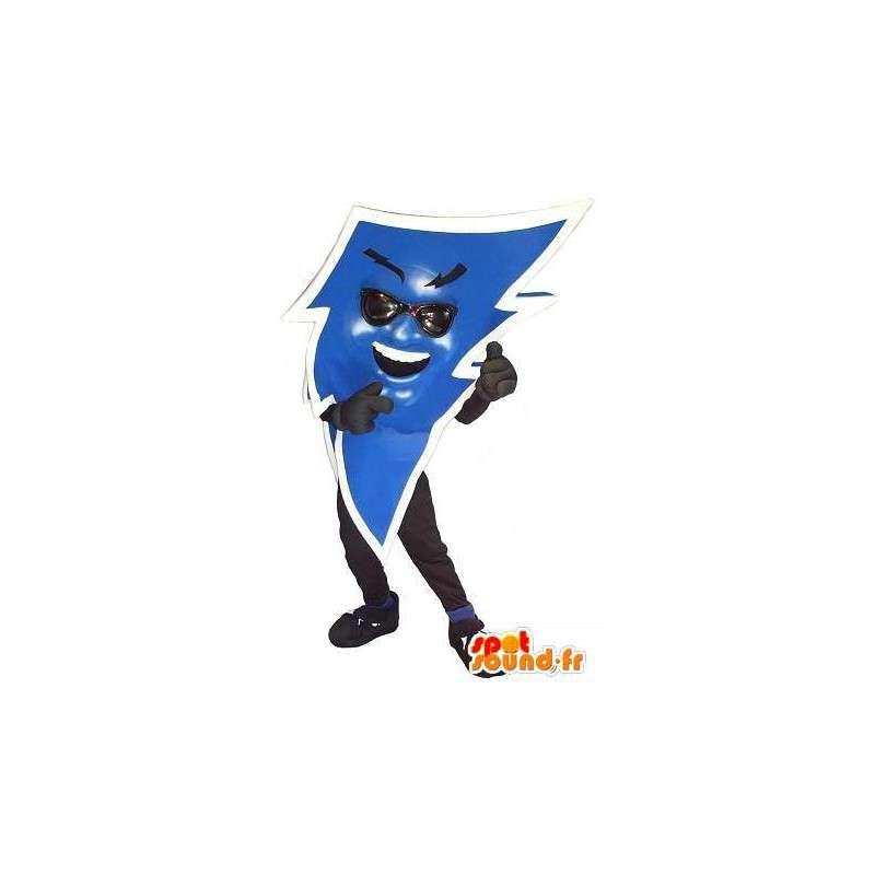 Maskotti muotoinen sininen salama, sähköinen naamioida - MASFR002074 - Mascottes non-classées