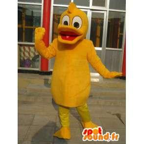 Duck Mascot Pomarańczowy - jakości kostium dla fantazyjny strój partii - MASFR00170 - kaczki Mascot