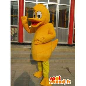 Duck Mascot Orange - kwaliteit kostuum voor themafeest - MASFR00170 - Mascot eenden