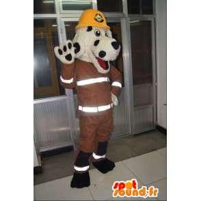 Dog mascot, New York firefighter, firefighter costume - MASFR001703 - Dog mascots
