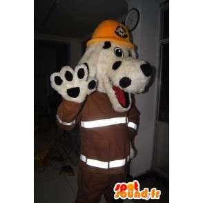 Pies Maskotka, Nowy Jork, strażak kostium - MASFR001703 - dog Maskotki