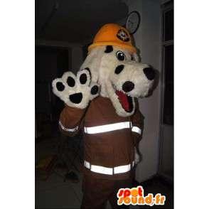 Hunde-Maskottchen New Yorker Feuerwehrmann Feuerwehrmann-Kostüm - MASFR001703 - Hund-Maskottchen