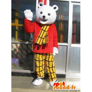 Orso polare mascotte - Vintage Style Parigi, Londra, Venezia - MASFR00172 - Mascotte orso