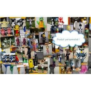 Benutzerdefinierte Maskottchen - Fertigung + Versand 7/9 Tage - Auf der Arbeit - MASFR002092 - Bär Maskottchen