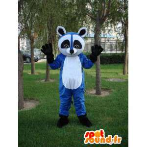 Blue raccoon mascot - Costume for evening frenzied animal