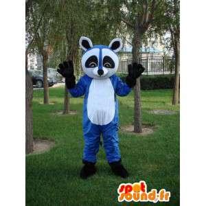 Mascota mapache azul - Disfraz de animal para la noche frenética