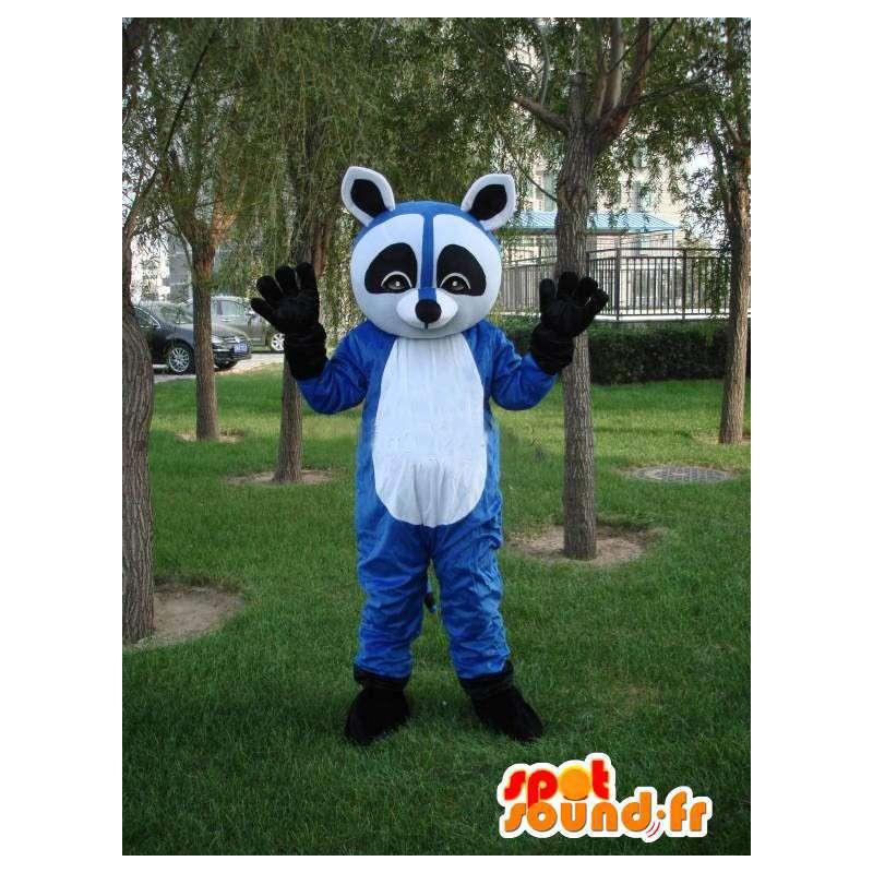 Blau Waschbär Maskottchen - Tierkostüm für rasenden Abend - MASFR00173 - Maskottchen von pups