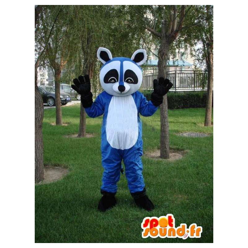 Blue raccoon mascot - Costume for evening frenzied animal - MASFR00173 - Mascots of pups