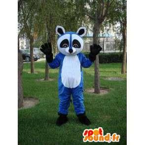 Raccoon blu mascotte - Costume per animali sera frenetica - MASFR00173 - Mascotte di cuccioli