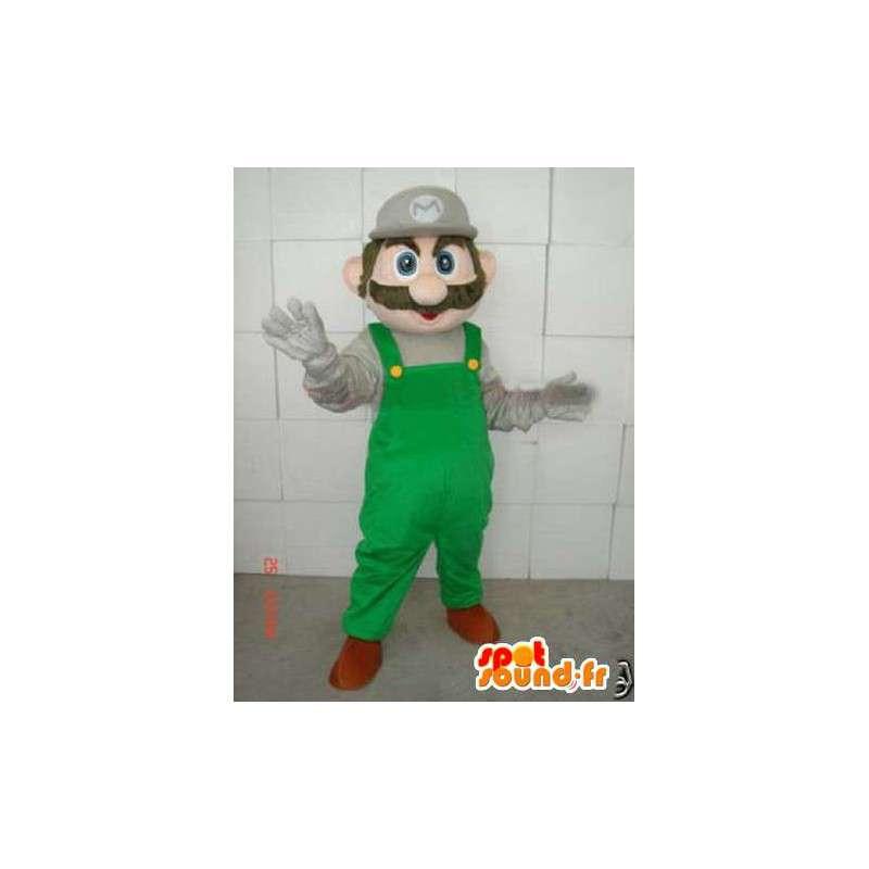 Mario grüne Maskottchen - Mascot Schaumplast mit Zubehör - MASFR00174 - Maskottchen Mario