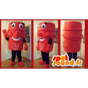 Mascotte tasse de collecte, déguisement armée du salut - MASFR002192 - Mascottes d'objets