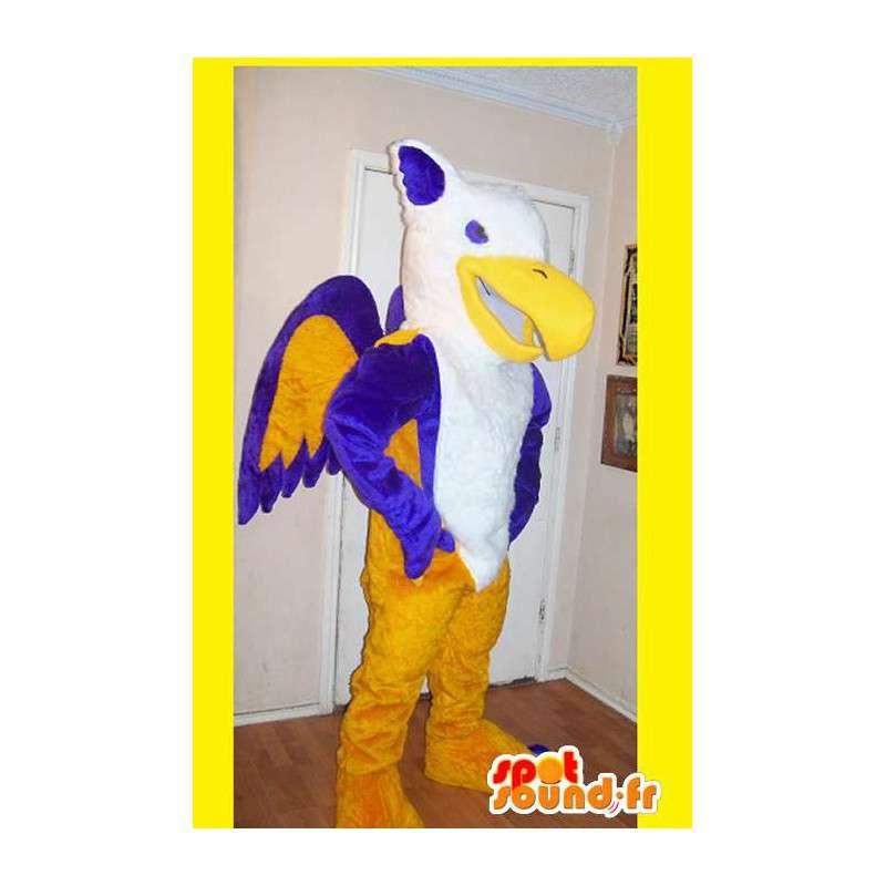 Mascot representerer en phoenix flerfarget brann forkledning - MASFR002195 - utdødde dyr Maskoter