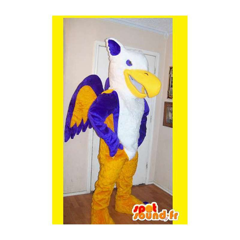 Phoenix mascot representing a multicolored costume fire - MASFR002195 - Missing animal mascots