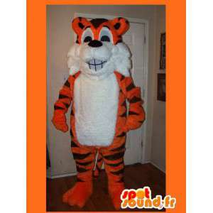 Representing a tiger mascot costume of the jungle