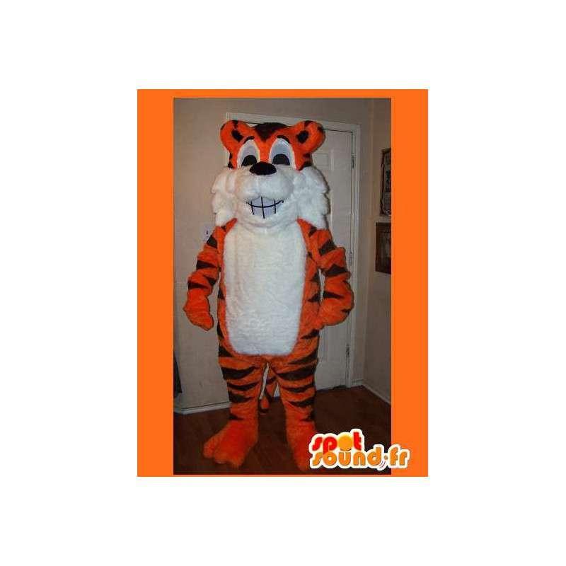 Maskotti tiikeri puku viidakko - MASFR002196 - Tiger Maskotteja