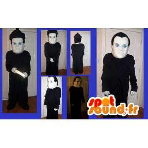 カトリックの司祭を表すマスコット、宗教的な変装-MASFR002202-男性のマスコット