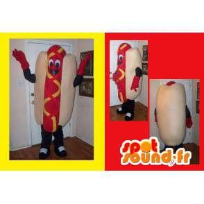 Representing a hot dog mascot costume fast-food - MASFR002203 - Fast food mascots