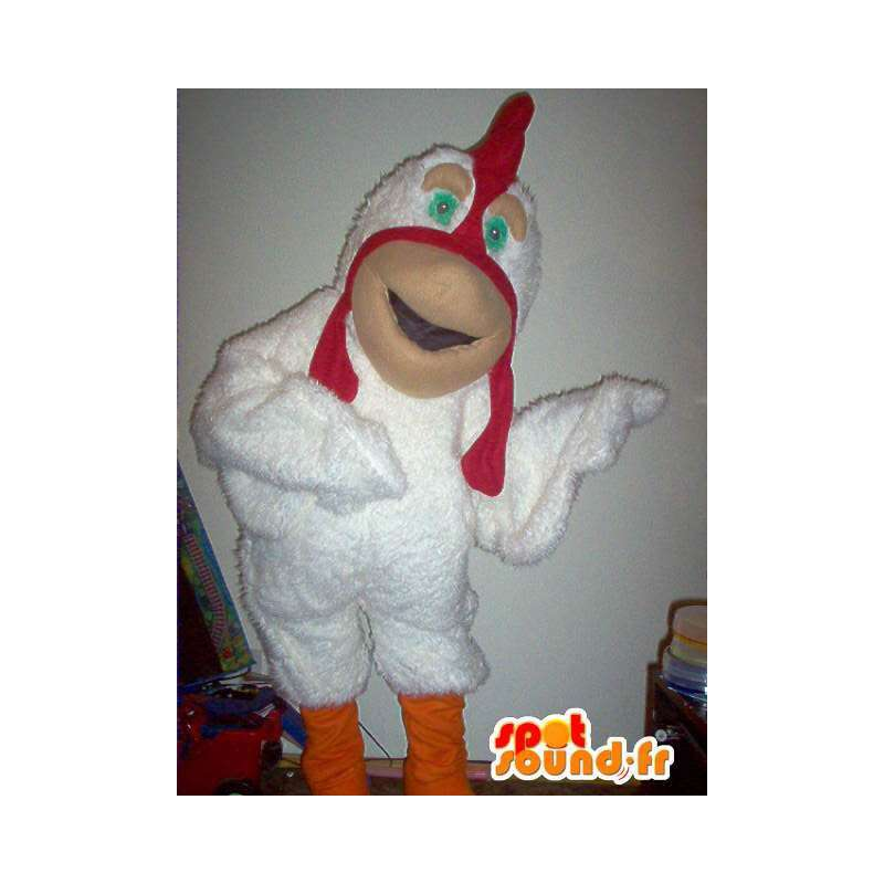 Chicken mascot representing a friendly disguise farm - MASFR002206 - Animal mascots