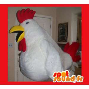 Maskotka reprezentujących znaczną koguta, kostium kurczaka