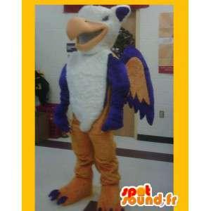 Mascot representing a Firebird, costume phoenix