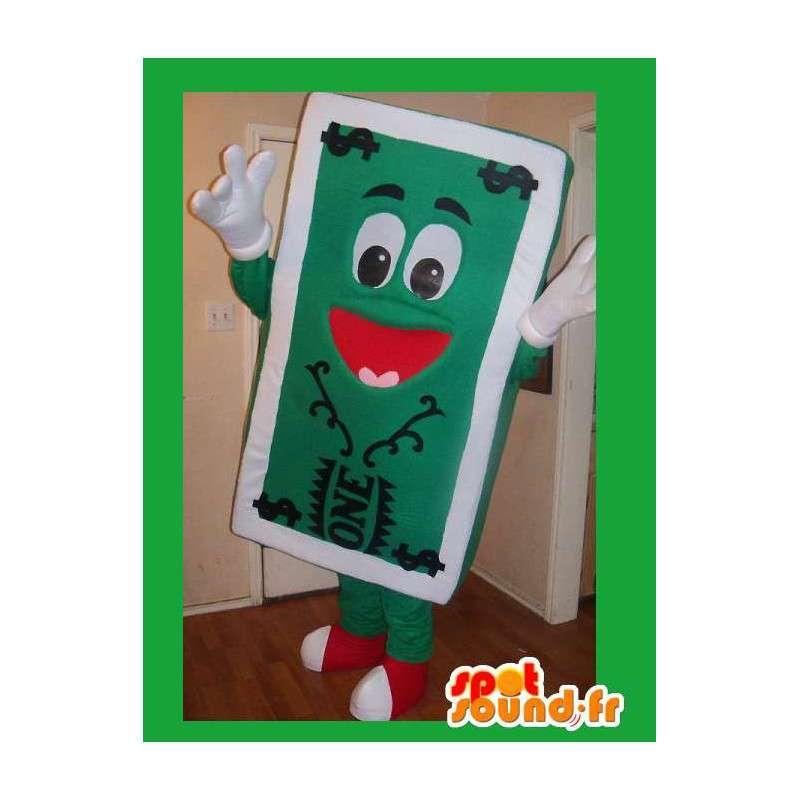 Mascot die eine Banknote Dollar-Verkleidung - MASFR002210 - Maskottchen von Objekten