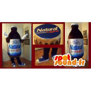 Mascot wat neerkomt op een mini-fles, drank vermomming - MASFR002212 - mascottes Flessen