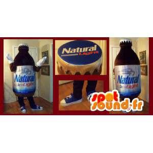 Maskot, der repræsenterer en mini-flaske, drik forklædning -
